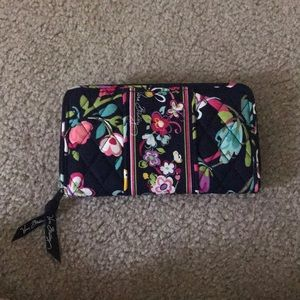 "Vera Bradley Double Accordion Wallet ""Ribbons"""